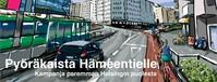 Pyöräkaista Hämeentielle - kampanja paremman Helsingin puolesta