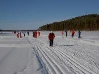 1. Tavallinen hiihtosunnuntai Neulaniemeä kiertävällä ladulla 2005 (laskimme yli 5.000 hiihtäjää)